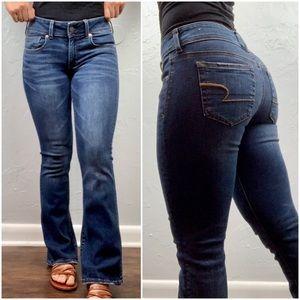 "American Eagle ""kick boot"" jeans size 2 short"